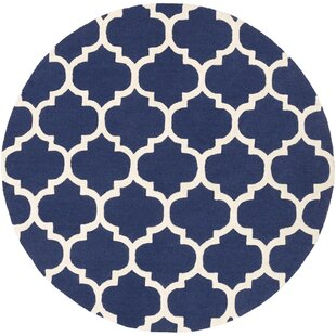 Blaisdell Stella Navy Wool Blue Area Rug by Charlton Home