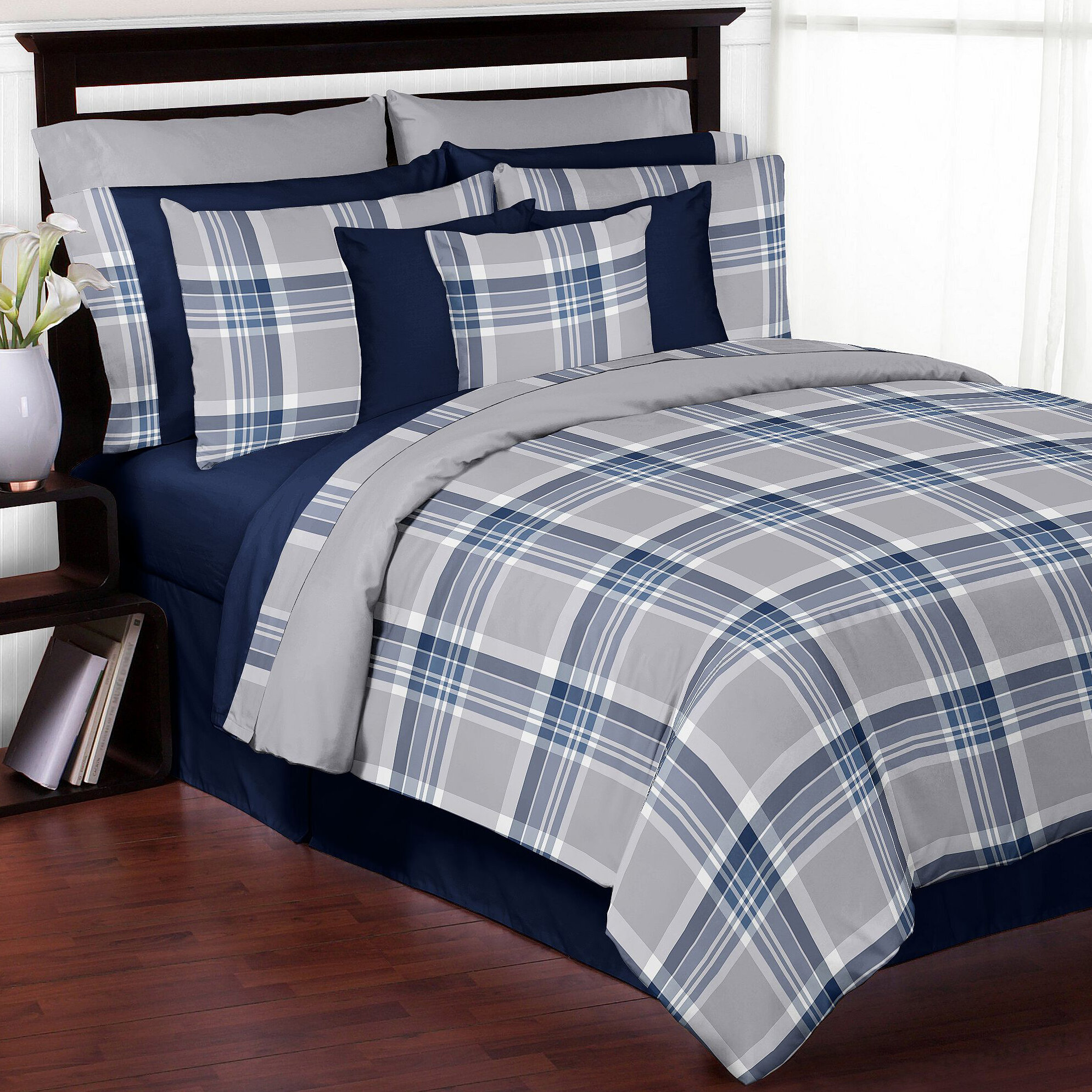 white bauer buffalo check mountain comforter set bedding black product overstock today free shipping eddie bath plaid