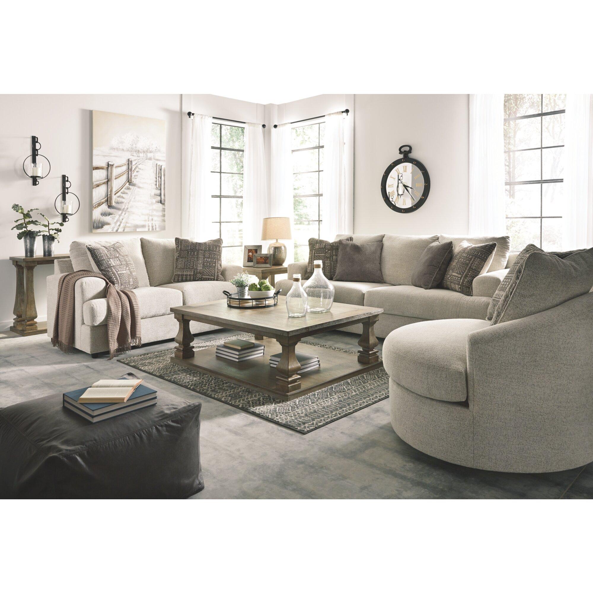Alandari 3 Piece Sleeper Configurable Living Room Set