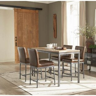 Barbera 5 Piece Pub Table Set by 17 Stories