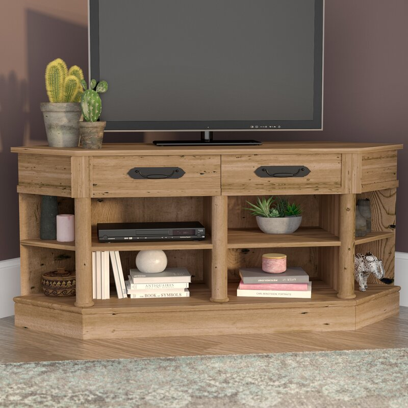 Mistana Collier Corner Tv Stand For Tvs Up To 60 Wayfair