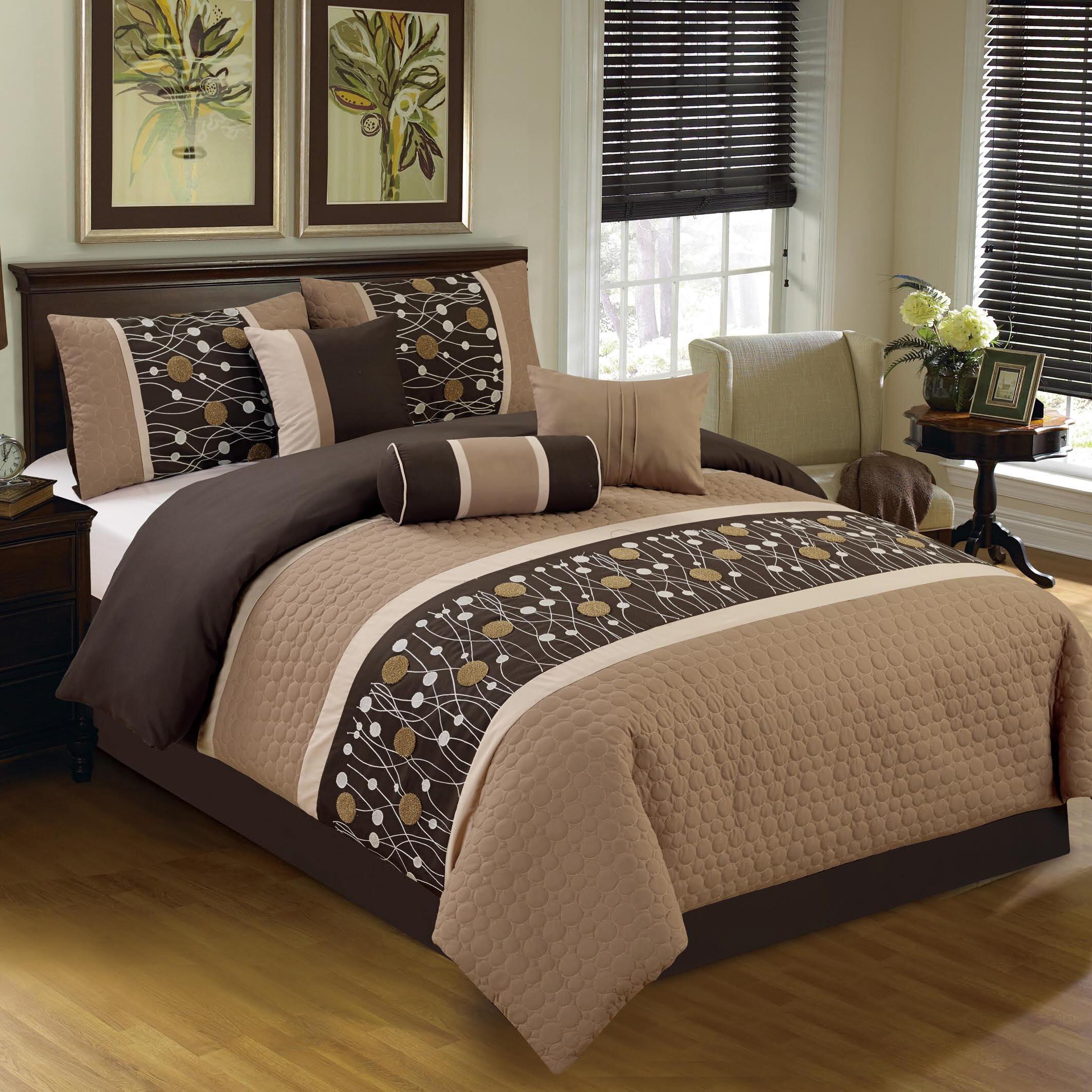 Winston Porter Adelone Embroidered 7 Piece Comforter Set Reviews Wayfair
