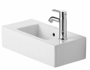 Reviews Vero Ceramic Rectangular Wall Mount Bathroom Sink with Overflow By Duravit