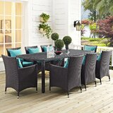 Brentwood 9 Piece Dining Set with Cushions