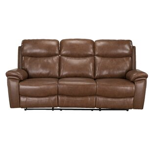 Price Check Yeager Genuine Leather Reclining Sofa by Loon Peak Reviews (2019) & Buyer's Guide
