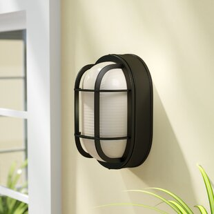 Purchase Lia 1-Light Outdoor Bulkhead Light By Beachcrest Home