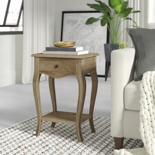 Lora Wood End Table