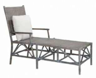 Bungalow Rose Lacey Woven Rattan Chaise Lounge