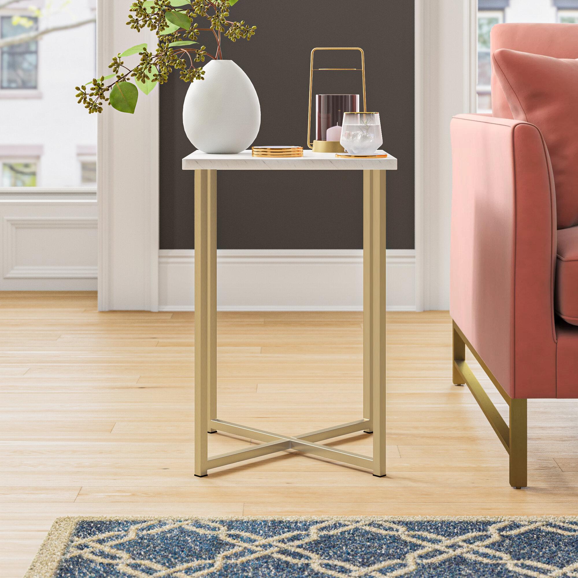 - Foundstone Dominique Cross Legs End Table & Reviews Wayfair