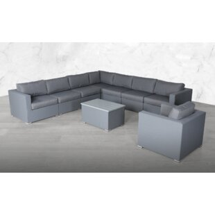 Froehlich Modular L Shape 9 Piece Sectional Seating Group with Cushions