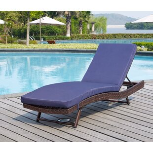 Mercury Row Prudence Sun Reclining Chaise Lounge with Cushion (Set of 4)