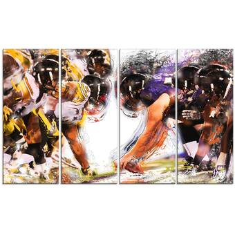 Designart Moto Cross Sports 4 Piece Graphic Art On Wrapped Canvas Set Wayfair
