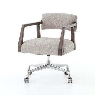 17 Stories Faust Oak Desk Chair