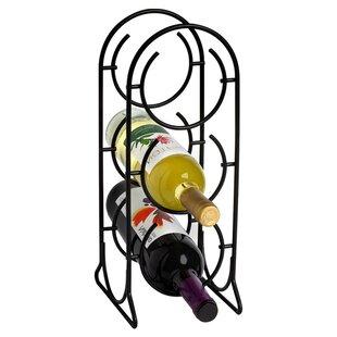 Horseshoe 3 Bottle Tabletop Wine Rack