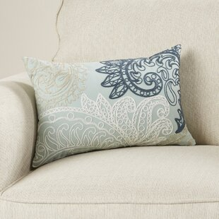 William Embroidered Cotton Lumbar Throw Pillow
