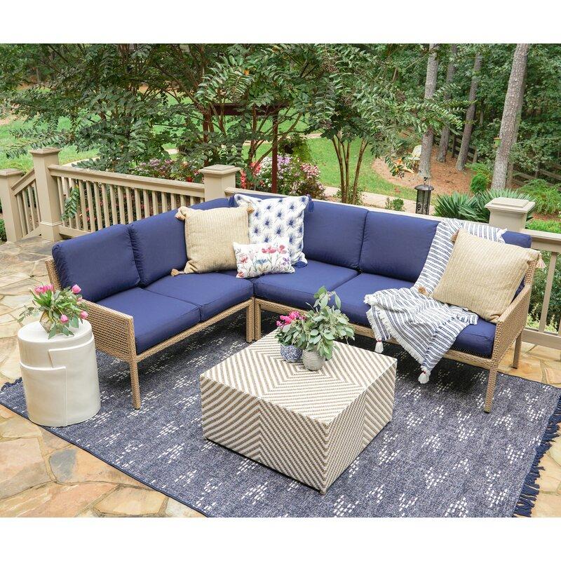 Bayou Breeze Mila 5 Piece Sofa Seating Group with Cushions