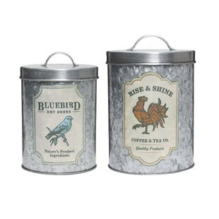 Farm 2 Piece Kitchen Canister Set