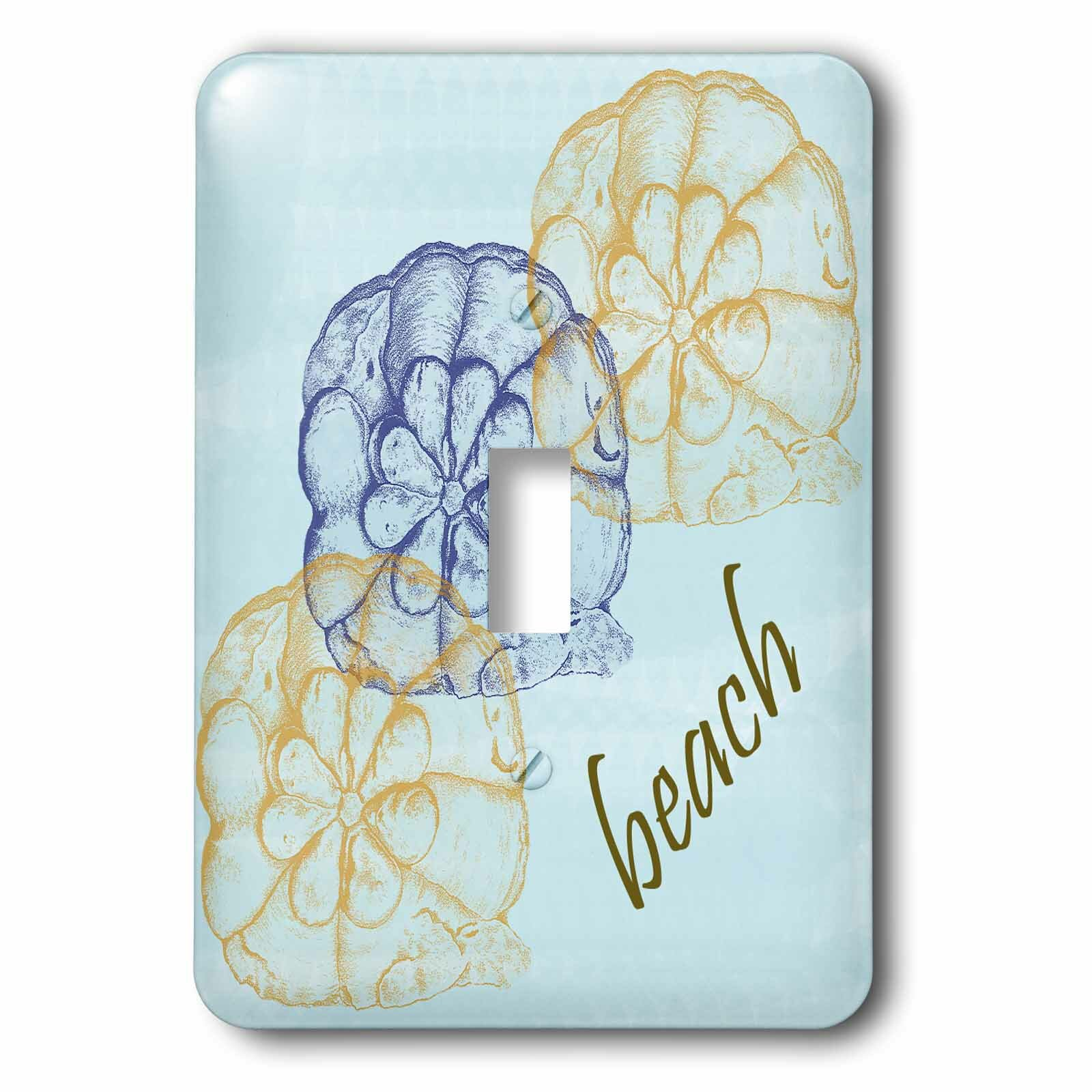 3drose Shells On Calming Beach 1 Gang Toggle Light Switch Wall Plate Wayfair