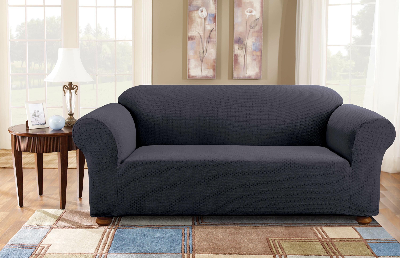 Sure Fit Simple Stretch Subway Box Cushion Sofa Slipcover Reviews Wayfair
