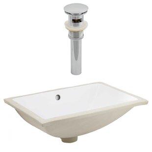 Best Reviews Ceramic Rectangular Undermount Bathroom Sink with Overflow ByAmerican Imaginations