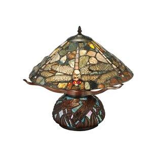 Dragonfly Cut Agata 16.5 Table Lamp