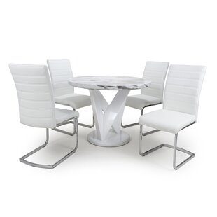 Athol Dining Set With 4 Chairs By Wade Logan