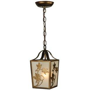 Meyda Tiffany Greenbriar Oak 1-Light Lantern Pendant