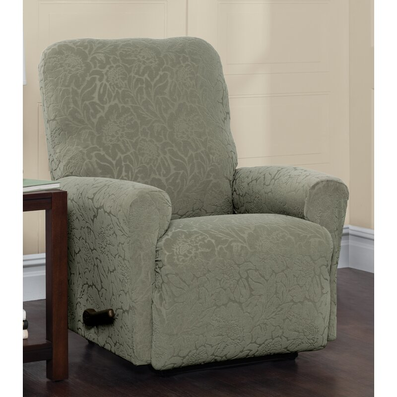 Stretch Slipcover Recliner Cover Furniture Chair Slipcover Beige//Coffee//Wine Red