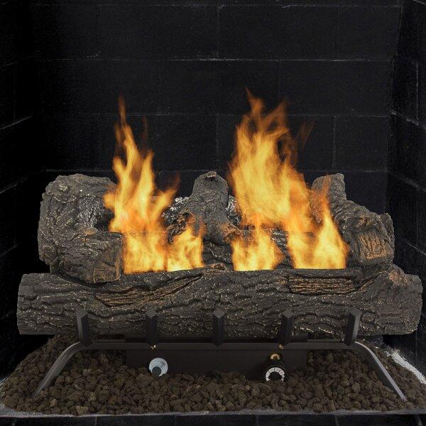 Pleasant Hearth Southern Oak Vent Free Natural Gas Propane Fireplace Log Set Reviews Wayfair