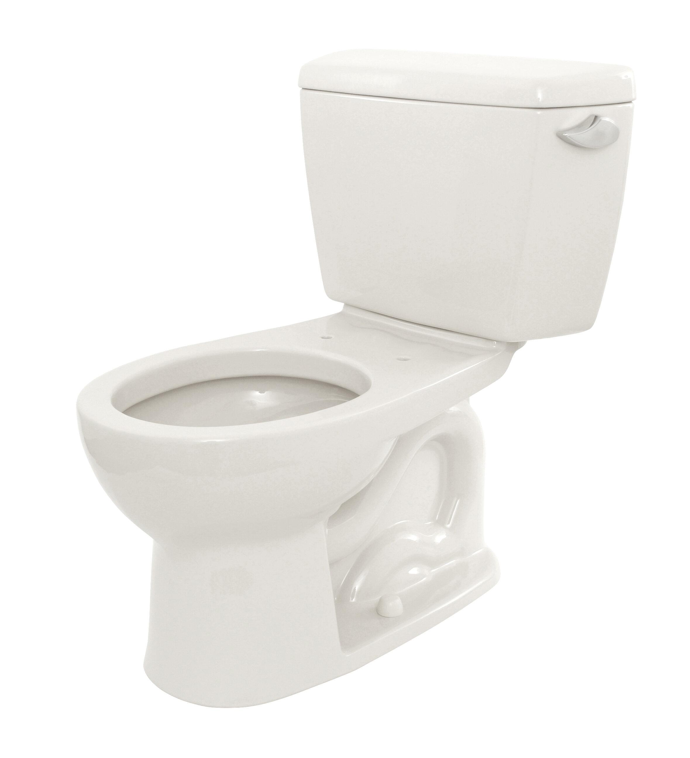 Toto Drake Eco 1.28 GPF Round Two-Piece Toilet & Reviews | Wayfair