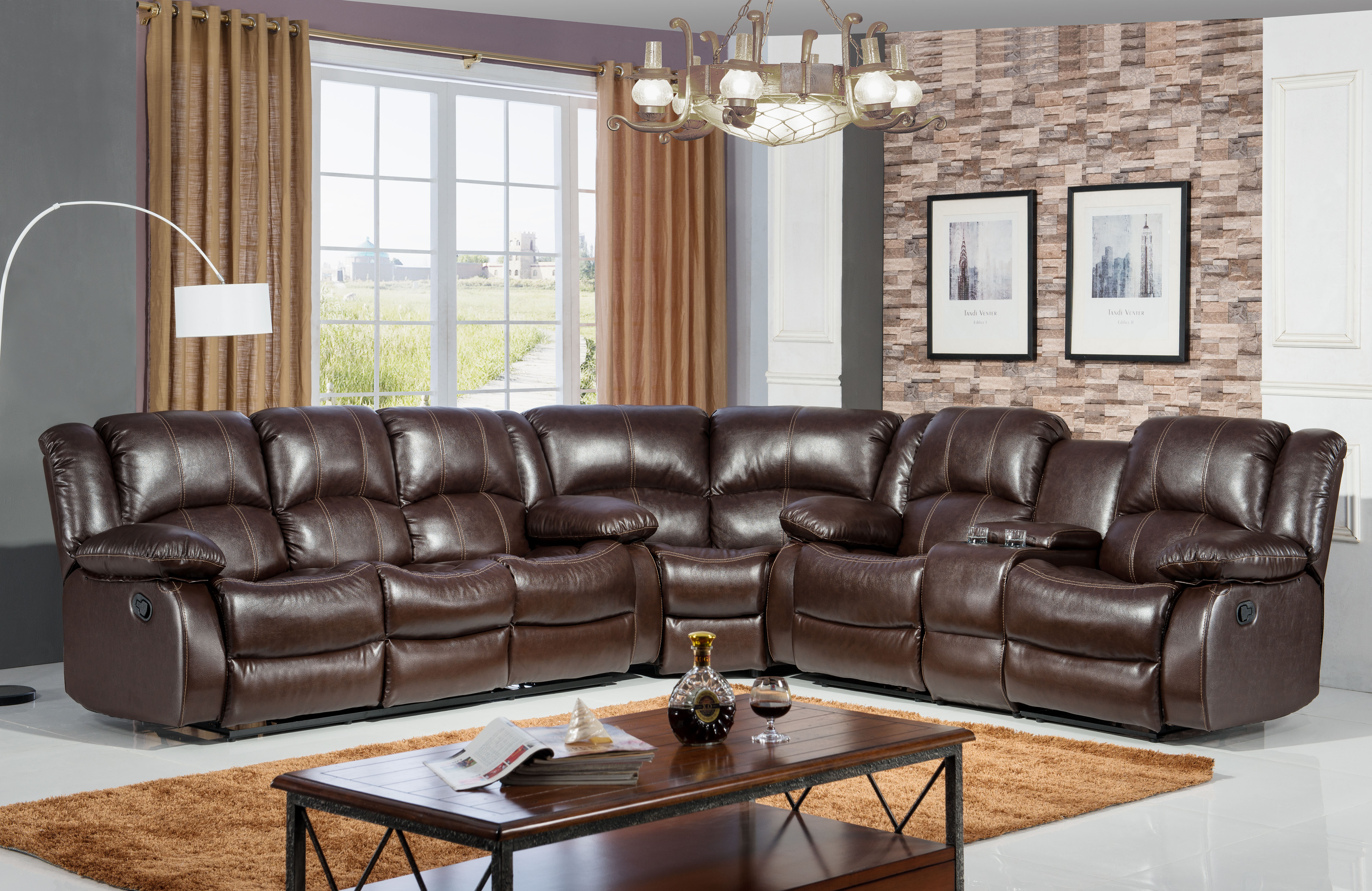 Ultimate Accents Comfort Reclining Sectional U0026 Reviews | Wayfair
