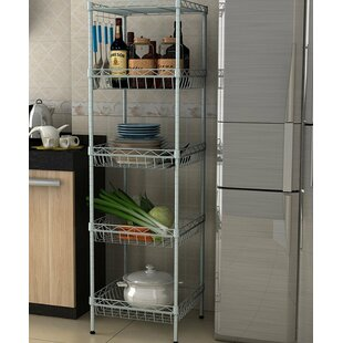 Gretchen 5-Tier Wire Shelfed Durable Steel Baker's Rack by Rebrilliant