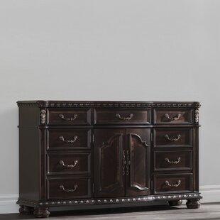 Pinehur 9 Drawer Double Dresser With Mirror by Astoria Grand No Copoun