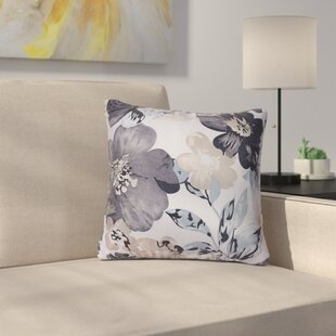 Piotrowski Flower Velvet Throw Pillow