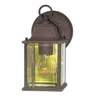 Affordable Basic 1-Light Outdoor Wall Lantern By Woodbridge Lighting