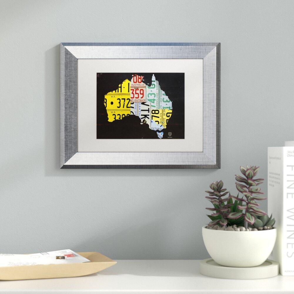 Latitude Run Australia License Plate Map by Design Turnpike Framed ...