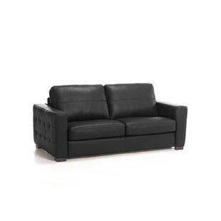 Wombwell Genuine Leather Sofa By Wade Logan