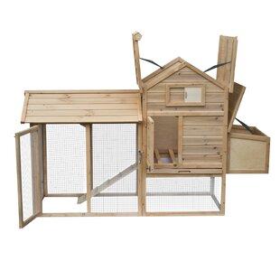 Multi-Level Wooden Chicken Coop By ALEKO