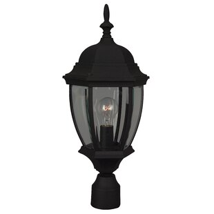 Compare prices Oakhill 1 Light Outdoor Post Lantern By Charlton Home