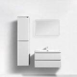 Drucilla Modern 36 Wall-Mounted Single Bathroom Vanity Set with Mirror by Orren Ellis