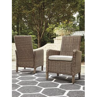 Farmersville Patio Dining Chair with Cushion (Set of 2)
