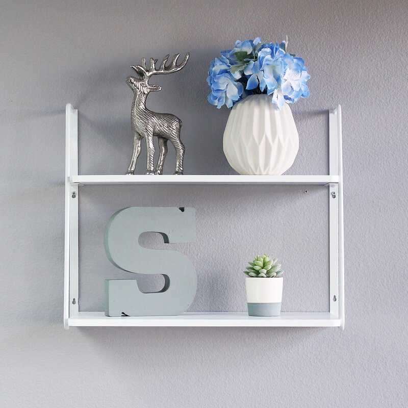 Williston Forge Ja 2-Tier Display Wall Shelf & Reviews   Wayfair