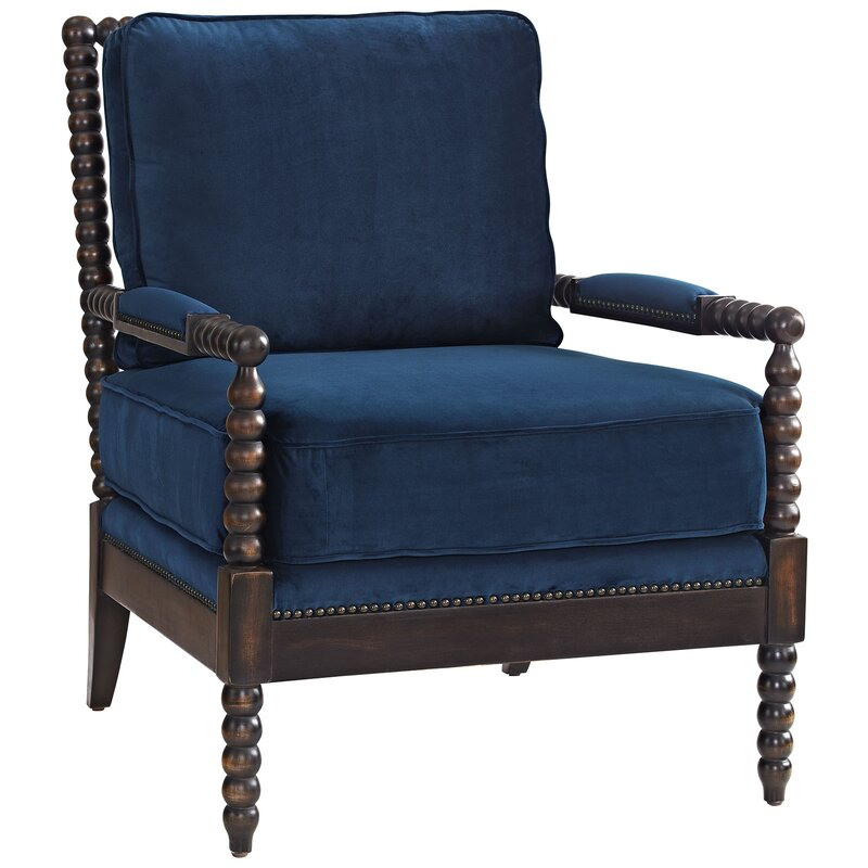 Areyanna Upholstered Fabric Arm Chair