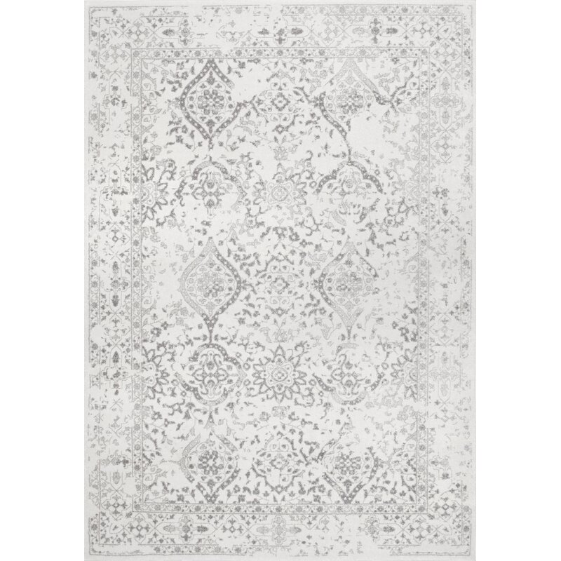 Youati Ivory/Gray Area Rug. Hello Lovely, White French Home Decor for Fans of Country Interiors.