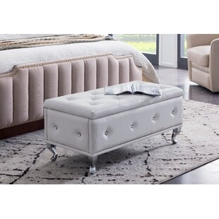 Chute Upholstered Storage Bench by House of Hampton Today Only Sale