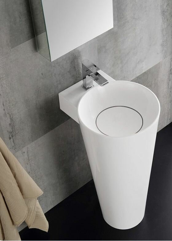 Lucido Messina Modern 16 Pedestal Bathroom Sink