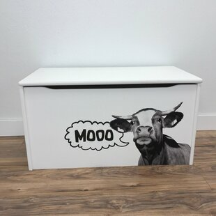 Best Price Hewish Moo Cow Print Toy Box By Zoomie Kids