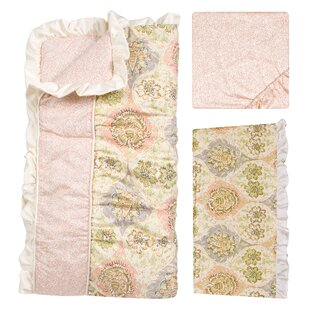 Searching for Rosewater Glam 3 Piece Crib Bedding Set ByTrend Lab