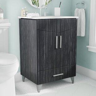 Kapp Modern Floor Mount 23.75 Single Bathroom Vanity Set by Royal Purple Bath Kitchen