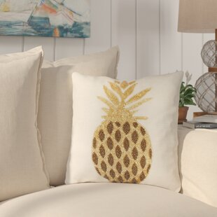 Simsbury Pineapple Beaded Throw Pillow